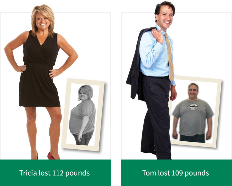 Tricia lost 112 pounds - Tom lost 109 pounds