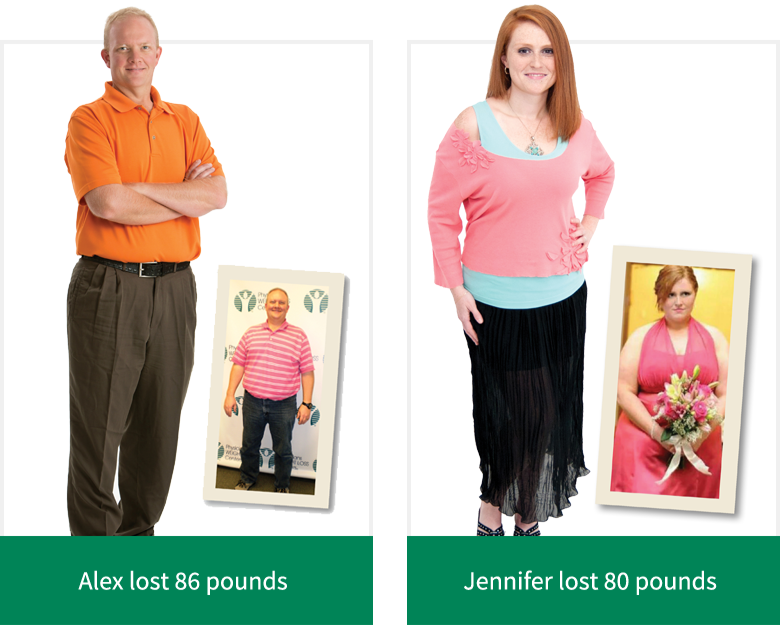 Alex lost 86 pounds - Jennifer lost 80 pounds