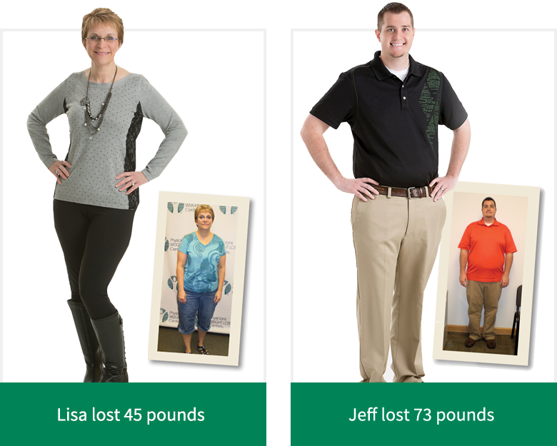 Lisa M. lost 45 pounds - Jeff lost 73 pounds